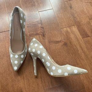 GUESS polka dots heels pumps